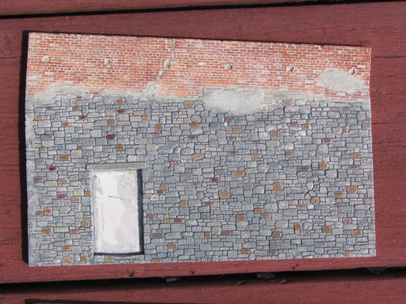 Nist Stone Test Wall : Fine hydrocal castings by c crow model railroad