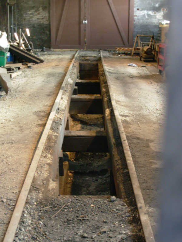 Chama roundhouse inspection pit.