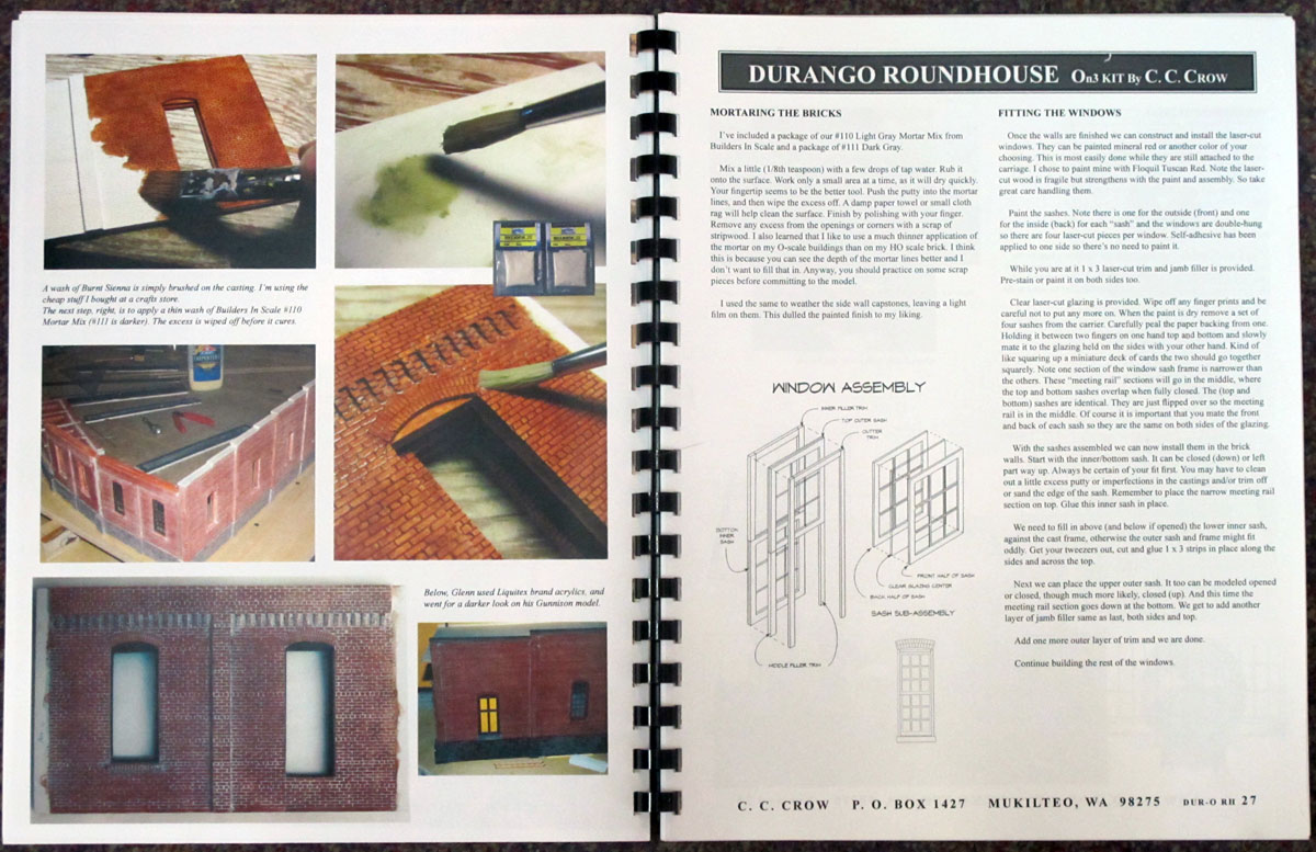 bound instructions book and tabloid-size plan sheets