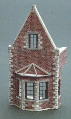 The Great Northern Passenger Depot. Photo of center section of model showing fine detail of brickwork.