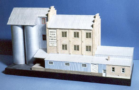 The Minden Flour Mill. Photo of model.
