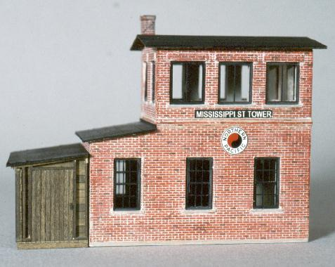 NP brick freight house model.