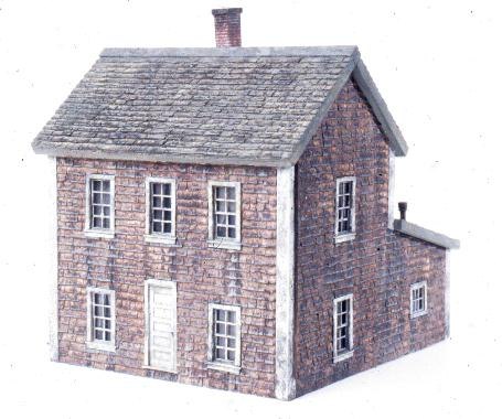 The Nantucket Shingle House is similar to the Saltbox. The roofline is different.