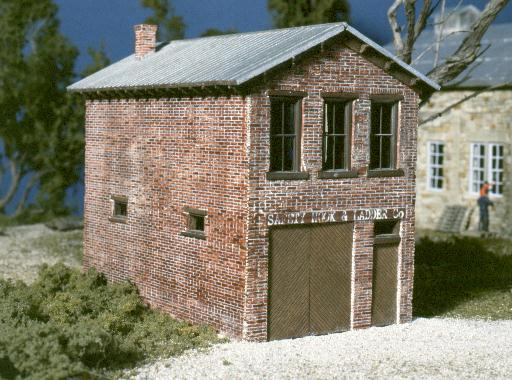 My first brick model, to Orbisonia. PA firehouse.