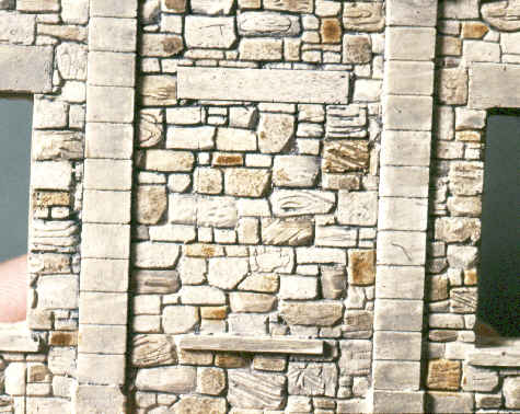 close-up of stone work