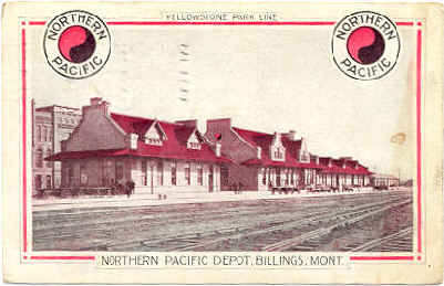 NP Billings, Mont. depot.