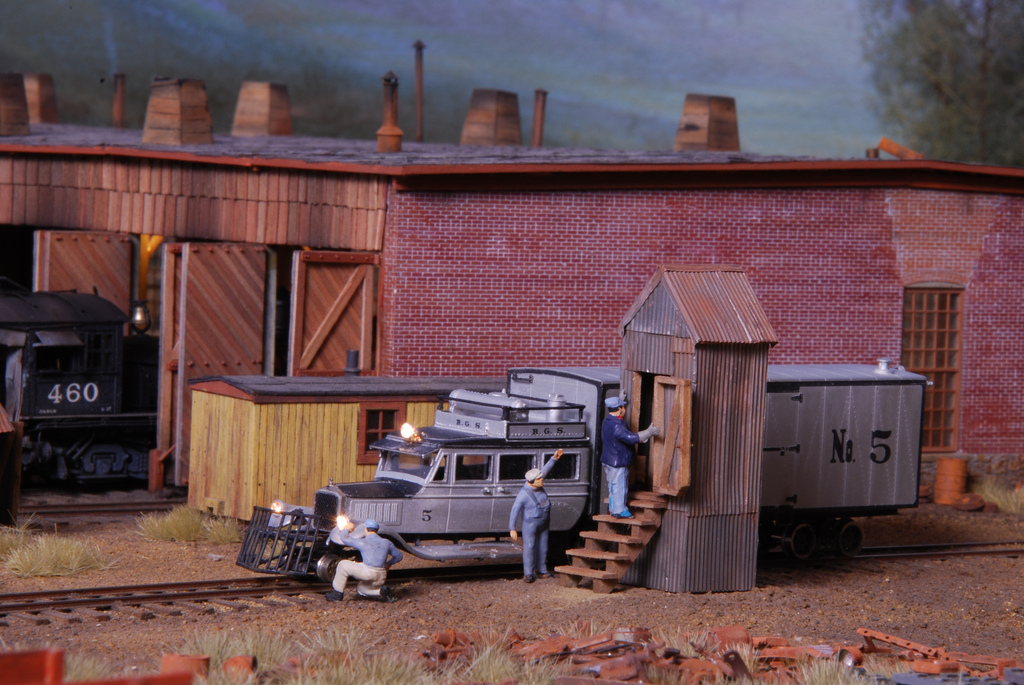 Ridgway Roundhouse diorama by Kevin Shanahan and Phil Gazzano